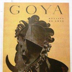 Coleccionismo de Revistas y Periódicos: GOYA - REVISTA DE ARTE Nº 8 AÑO 1955. Lote 32560826