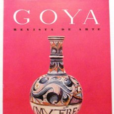 Coleccionismo de Revistas y Periódicos: GOYA - REVISTA DE ARTE Nº 18 AÑO 1957. Lote 32560975