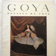 Coleccionismo de Revistas y Periódicos: GOYA - REVISTA DE ARTE Nº 19 AÑO 1957. Lote 32560989