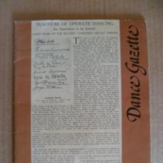 Coleccionismo de Revistas y Periódicos: REVISTA EN INGLÉS; DANCE GAZETTE, OCTUBRE 1980. Lote 32587287