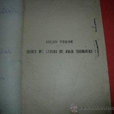 Coleccionismo de Revistas y Periódicos: JULIO VERNE.- VEINTE MIL LEGUAS DE VIAJE SUBMARINO. Lote 32609768