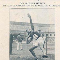 Coleccionismo de Revistas y Periódicos: ATLETISMO 1930 BARCELONA CAMPEONATO ESPAÑA TUGUES HOJA REVISTA. Lote 32612832