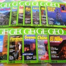 Coleccionismo de Revistas y Periódicos: GEO - LA NUEVA VISIÓN DEL MUNDO - AÑO 1993 COMPLETO EN ESTUPENDO ESTADO. CON SUS GUÍAS TEMÁTICAS. Lote 32671987