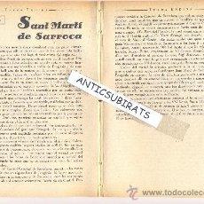 Coleccionismo de Revistas y Periódicos: REVISTA.ANY 1933.PORTAVEU.EXCURSIONISME.EXCURSIO A .SANT MARTI SARROCA.. Lote 32648477