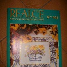 Coleccionismo de Revistas y Periódicos: REVISTA REALCE PUNTO DE CRUZ - MANTELERIAS - NUEVO . Lote 113133880