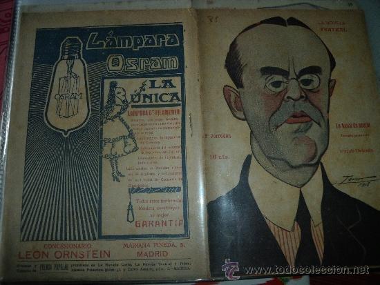 LA NOVELA TEATRAL Nº 85.- SINESIO DELGADO.- LA BALSA DE ACEITE. (Coleccionismo - Revistas y Periódicos Antiguos (hasta 1.939))