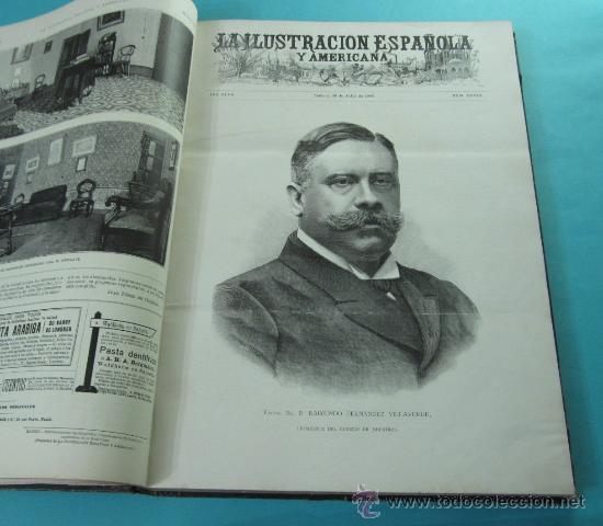 Coleccionismo de Revistas y Periódicos: LA ILUSTRACIÓN ESPAÑOLA Y AMERICANA. 2º TOMO 1903. BELLAS ARTES, RETRATOS, VIAJES S.M. EL REY - Foto 7 - 32743313