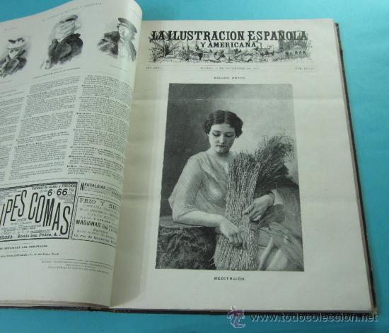 Coleccionismo de Revistas y Periódicos: LA ILUSTRACIÓN ESPAÑOLA Y AMERICANA. 2º TOMO 1903. BELLAS ARTES, RETRATOS, VIAJES S.M. EL REY - Foto 11 - 32743313