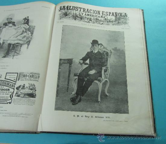 Coleccionismo de Revistas y Periódicos: LA ILUSTRACIÓN ESPAÑOLA Y AMERICANA. 2º TOMO 1903. BELLAS ARTES, RETRATOS, VIAJES S.M. EL REY - Foto 16 - 32743313