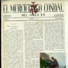 Coleccionismo de Revistas y Periódicos: EL MURCIÉLAGO CONDAL DEL SIGLO XX AÑO I NÚMERO 1 - BARCELONA, ENERO 1946. Lote 32772922