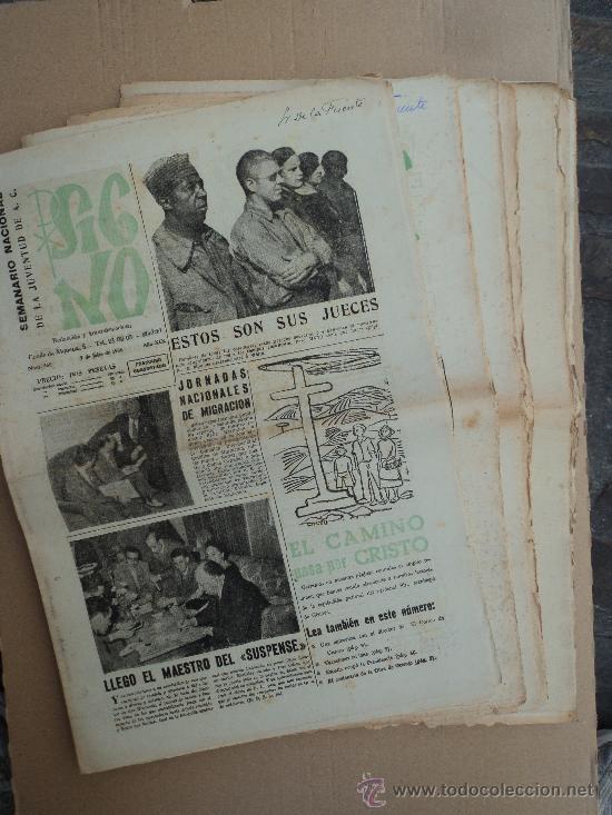 SIGNO. SEMANARIO NACIONAL DE LA JUVENTUD A. C. - LOTE (Coleccionismo - Revistas y Periódicos Modernos (a partir de 1.940) - Otros)