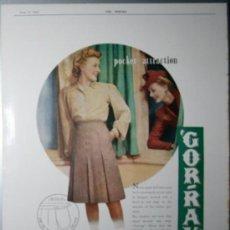 Coleccionismo de Revistas y Periódicos: PUBLICIDAD - GOR-RAY - AÑO 1943 - MEDIDAS 35 X 25 CM.APROX.. Lote 32834935