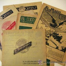 Coleccionismo de Revistas y Periódicos: MUNDO CIENTIFICO 6 REVISTAS 1910 1911. Lote 32850093
