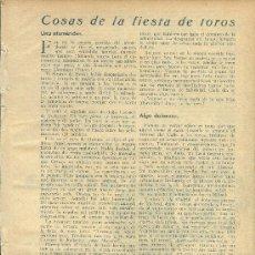 Coleccionismo de Revistas y Periódicos - * TOROS Y TOREROS * Cogida de Villalta, Barrera, retorno de El Gallo… - 1934 - 32882495