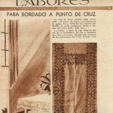 Coleccionismo de Revistas y Periódicos: * LABORES * BORDADO A PUNTO DE CRUZ- 1934. Lote 32885290