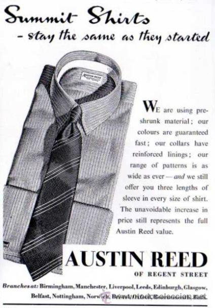 Publicidad Austin Reed Camisas 1940 45 Buy Other Modern Magazines And Newspapers At Todocoleccion 32886496