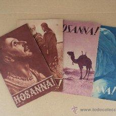 Coleccionismo de Revistas y Periódicos: HOSANNA! - LOTE 4 REVISTAS.. Lote 32956456