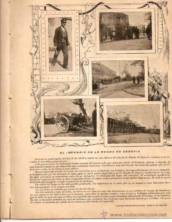 AÑO1899.MADRID MONUMENTAL.2 DE MAYO.FERIA DE SEVILLA.RONDA DE SEGOVIA.INSTITUTO RADIOGRAFICO ESPAÑOL (Coleccionismo - Revistas y Periódicos Antiguos (hasta 1.939))
