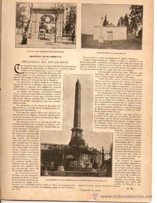 Coleccionismo de Revistas y Periódicos: AÑO1899.MADRID MONUMENTAL.2 DE MAYO.FERIA DE SEVILLA.RONDA DE SEGOVIA.INSTITUTO RADIOGRAFICO ESPAÑOL - Foto 2 - 33086642