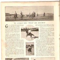 Coleccionismo de Revistas y Periódicos: AÑO1899.MADRID MONUMENTAL.MINISTERIOS.EL CLAVEL ROJO.TEATRO PARISH.JUEGO DEL POLO.GIMENEZ.HERALDICA.. Lote 33087299