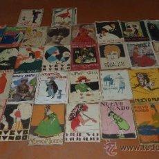Coleccionismo de Revistas y Periódicos: LOTE DE 32 REVISTAS NUEVO MUNDO, DE AÑOS 20 MODERNISTA. . Lote 33237598