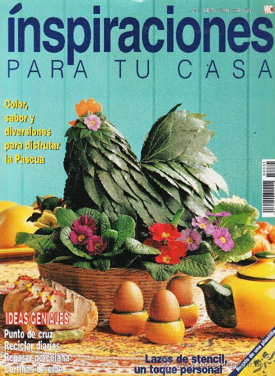 REVISTA - INSPIRACIONES PARA TU CASA - Nº 1 - IDEAS GENIALES - AÑO 1996 (Coleccionismo - Revistas y Periódicos Modernos (a partir de 1.940) - Otros)