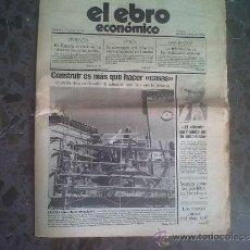 Coleccionismo de Revistas y Periódicos: NÚMERO 1. EL EBRO ECONÓMICO, MAYO 1989. PORTADA: EN ESPAÑA EL SUELO SE HA ELEVADO HASTA LAS NUBES. Lote 33124645