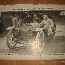 Coleccionismo de Revistas y Periódicos: EL REGRESO DEL REY EN AUTOMOVIL HISPANO-SUIZA 45 HP/MUERTE AVIADOR CHAVHOJA REVISTA NUEVO MUNDO 1911. Lote 33131703