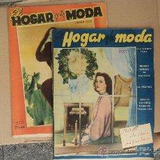 Coleccionismo de Revistas y Periódicos: HOGAR Y MODA - LOTE DOS REVISTAS.. Lote 33158805