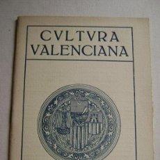 Coleccionismo de Revistas y Periódicos: CULTURA VALENCIANA.ANY 1926.QVADERN IV.158. Lote 33242246