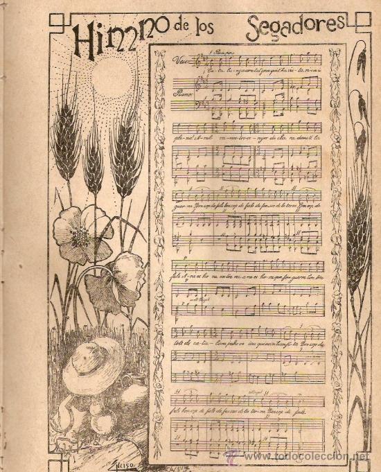 AÑO 1899.ELS SEGADORS.PARTITURA.HIMNO.LOS SEGADORES.CATALANISMO.ASESINATO CABO MARINE.MADRID. (Coleccionismo - Revistas y Periódicos Antiguos (hasta 1.939))