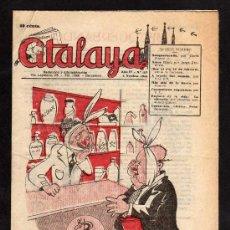 Coleccionismo de Revistas y Periódicos: ATALAYA. SEMANARIO DE HUMOR. N.152 DE 4 NOVIEMBRE 1944.. PORTADA SABATES. Lote 33367563