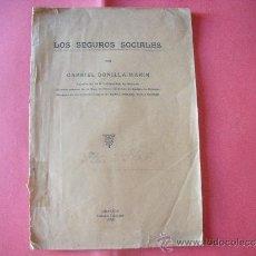 Coleccionismo de Revistas y Periódicos: GABRIEL BONILLA MARIN.- LOS SEGUROS SOCIALES.- GRANADA 1923.. Lote 33392405