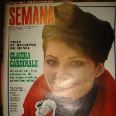 Coleccionismo de Revistas y Periódicos: REVISTA SEMANA, MADRID 1969, Nº 1524,AÑO XXX,CLAUDIA CARDINALE, SARA MONTIEL, MARQUÉS DE VILLAVERDE. Lote 33476728