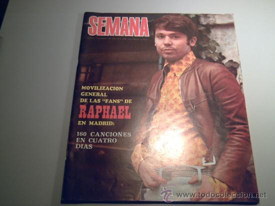 REVISTA SEMANA -7 DICIEMBRE 1968 - RAPHAEL - PINITO DEL ORO (Coleccionismo - Revistas y Periódicos Modernos (a partir de 1.940) - Otros)