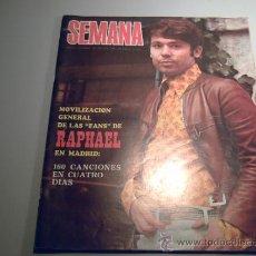 Coleccionismo de Revistas y Periódicos: REVISTA SEMANA -7 DICIEMBRE 1968 - RAPHAEL - PINITO DEL ORO. Lote 33480240