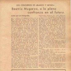 Coleccionismo de Revistas y Periódicos: * AMOREBIETA * BEATRIZ MUGARZA INCHAUSTI, GANADORA DE CONCURSO DE BLANCO Y NEGRO - 1934. Lote 33480612