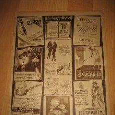 Coleccionismo de Revistas y Periódicos: PUBLICIDAD VARIADA ANIS LA REVOLTOSA/INSECTICIDA CUCAR-EX/ESTILOGRAFICAS MOZO HOJA REVISTA ABC 1949. Lote 33512938
