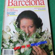 Coleccionismo de Revistas y Periódicos: VIVIR EN BARCELONA Nº 34/1988 ~ MONTSERRAT CABALLE ~ ALASKA. Lote 33516077