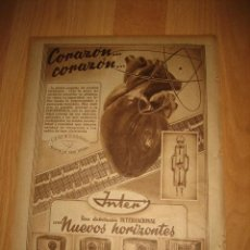 Coleccionismo de Revistas y Periódicos: PUBLICIDAD RADIO INTER HOJA REVISTA ABC 1949. Lote 33517505