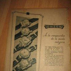 Coleccionismo de Revistas y Periódicos: PUBLICIDAD RELOJES OMEGA HOJA REVISTA ABC 1949. Lote 33527663