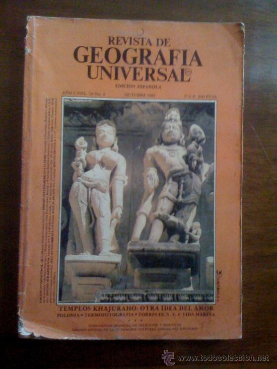 REVISTA DE GEOGRAFÍA UNIVERSAL. AÑO 5, VOLUMEN 10. N° 4 (Coleccionismo - Revistas y Periódicos Modernos (a partir de 1.940) - Otros)
