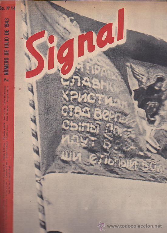 REVISTA SIGNAL JULIO 1943 Nº 14 (Coleccionismo - Revistas y Periódicos Modernos (a partir de 1.940) - Otros)