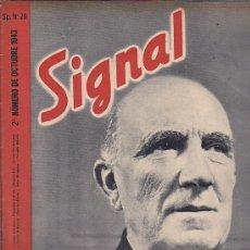 Coleccionismo de Revistas y Periódicos: REVISTA SIGNAL OCTUBRE 1943 Nº 20. Lote 33570160