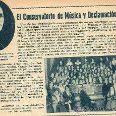 Collectionnisme de Revues et Journaux: * MURCIA * PUBLICIDAD CONSERVATORIO DE MÚSICA Y DECLAMACIÓN, DIRECTOR MANUEL MASSOTTI - 1934. Lote 35339623