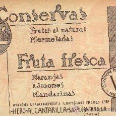Collectionnisme de Revues et Journaux: * ALCANTARILLA, MURCIA * PUBLICIDAD CONSERVAS HERO - 1934. Lote 33608151
