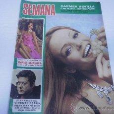 Coleccionismo de Revistas y Periódicos: REVISTA SEMANA - MARZO DE 1974 - CARMEN SEVILLA - POSTER JULIO IGLESIAS. Lote 33635471