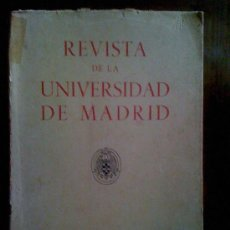 Coleccionismo de Revistas y Periódicos: REVISTA DE LA UNIVERSIDAD DE MADRID. VOLUMEN II. N° 8. A. GARCÍA BELLIDO Y OTROS. Lote 33686767