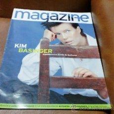 Coleccionismo de Revistas y Periódicos: REV. 6/97 MAGAZINE: KIM BASINGER AMPLIO RPTJE.ADOLFO DOMINGUEZ,CIVILIZACION ALTAMIRA,COMUNIONES. Lote 33740548