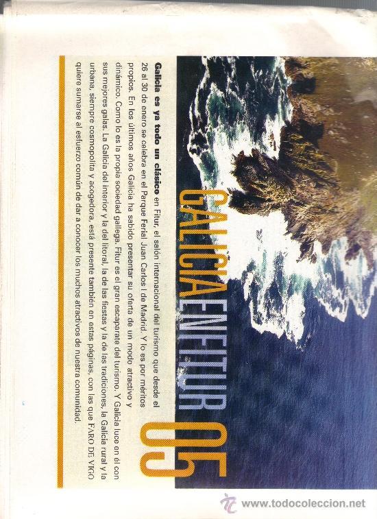Coleccionismo de Revistas y Periódicos: FARO DE VIGO - SUPLEMENTO 27 ENERO 2005 - GALICIA EN FITUR. - Foto 2 - 33750052